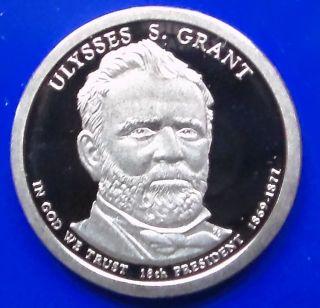 2011 - S Gem Cameo Proof Ulysses Grant Presidential Dollar. . photo