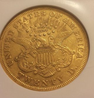 1872 - P Type Ii $20 Double Eagle Ngc Xf45 Numismedia $1984.  00 photo