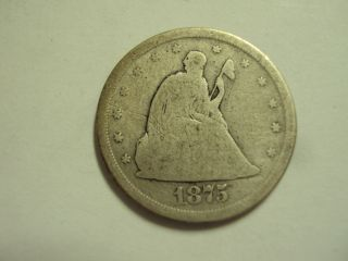 Coinhunters - 1875 - S Twenty Cent Piece,  Good photo