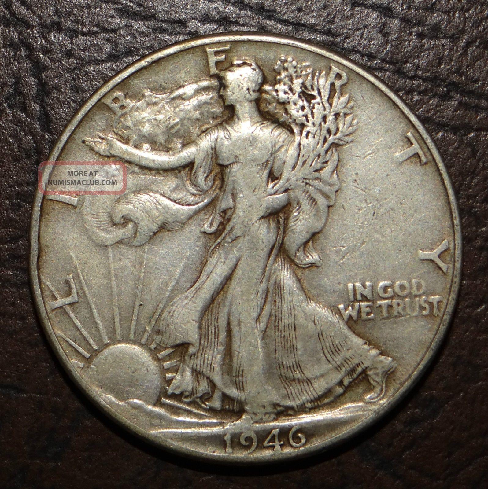 1946 P Walking Liberty Silver Half Dollar