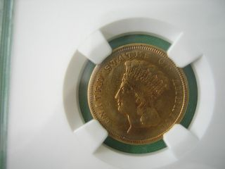 Ngc 1854 P $3.  00 Princess Gold Piece Xf photo