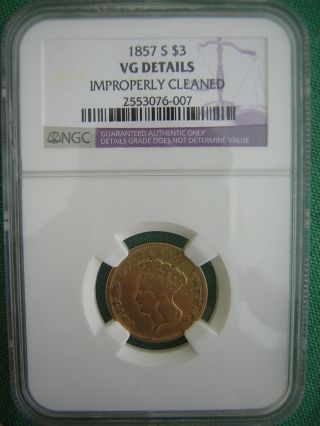 Ngc 1857 S $3.  00 Princess Gold Piece Only 14,  000 Minted photo