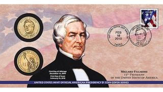 On P33 Millard Fillmore 2010 Presidential First Day Coin Cover,  Env. photo