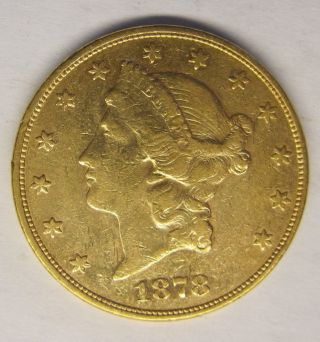 1878 - S $20 Liberty Head Gold United States Eagle photo