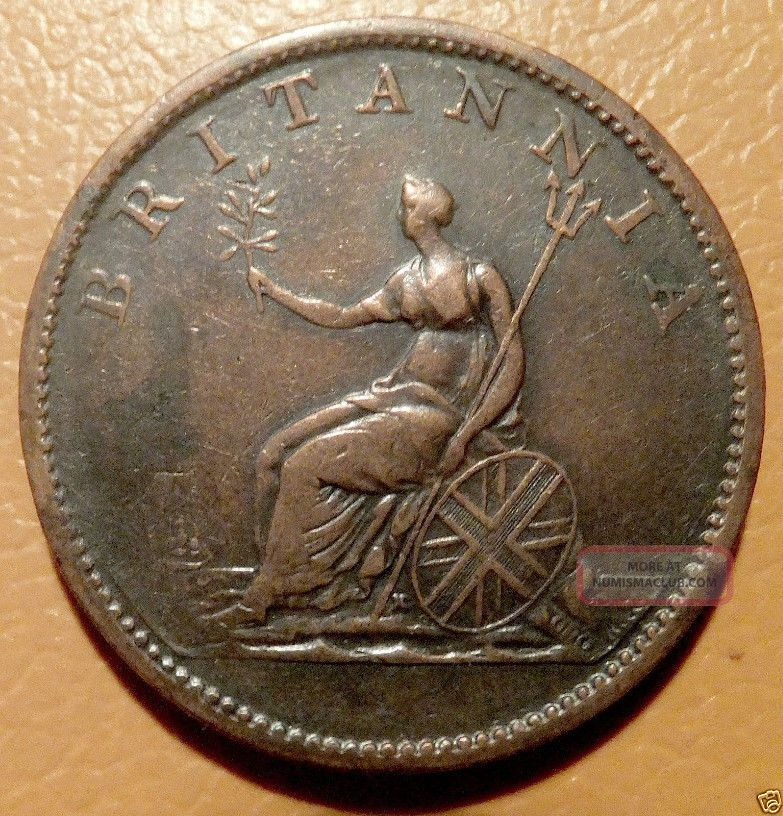 1806 Britain Usa Colonial 1 2 Penny Rare Three Berries