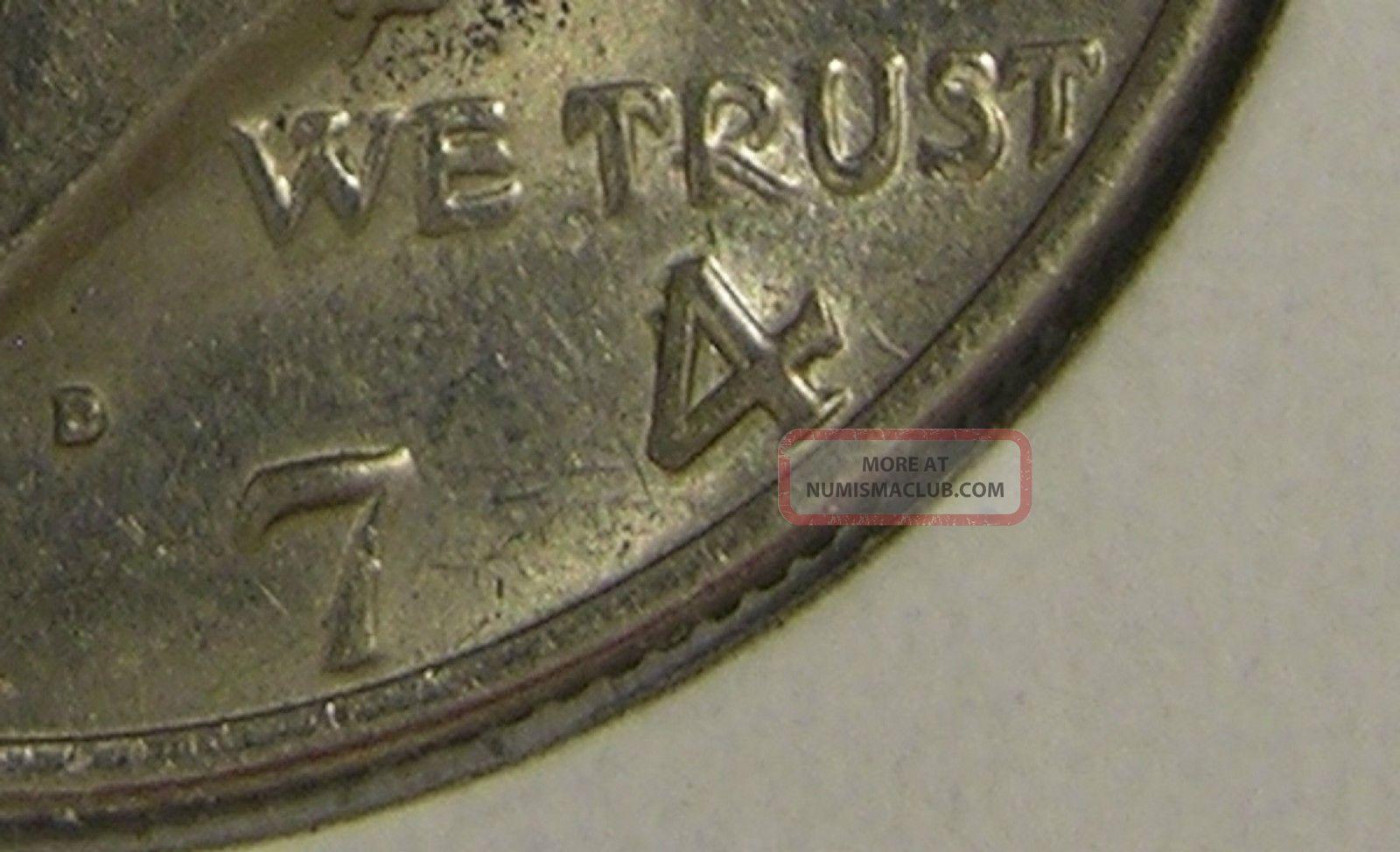 1974 D Kennedy Half Dollar Doubled Die Error Coin Ae 862