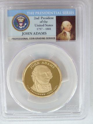 Pcgs 2007 S Proof John Adams 2nd Presidential Dollar $1 Pf Pr69 Dc Usa Coin photo
