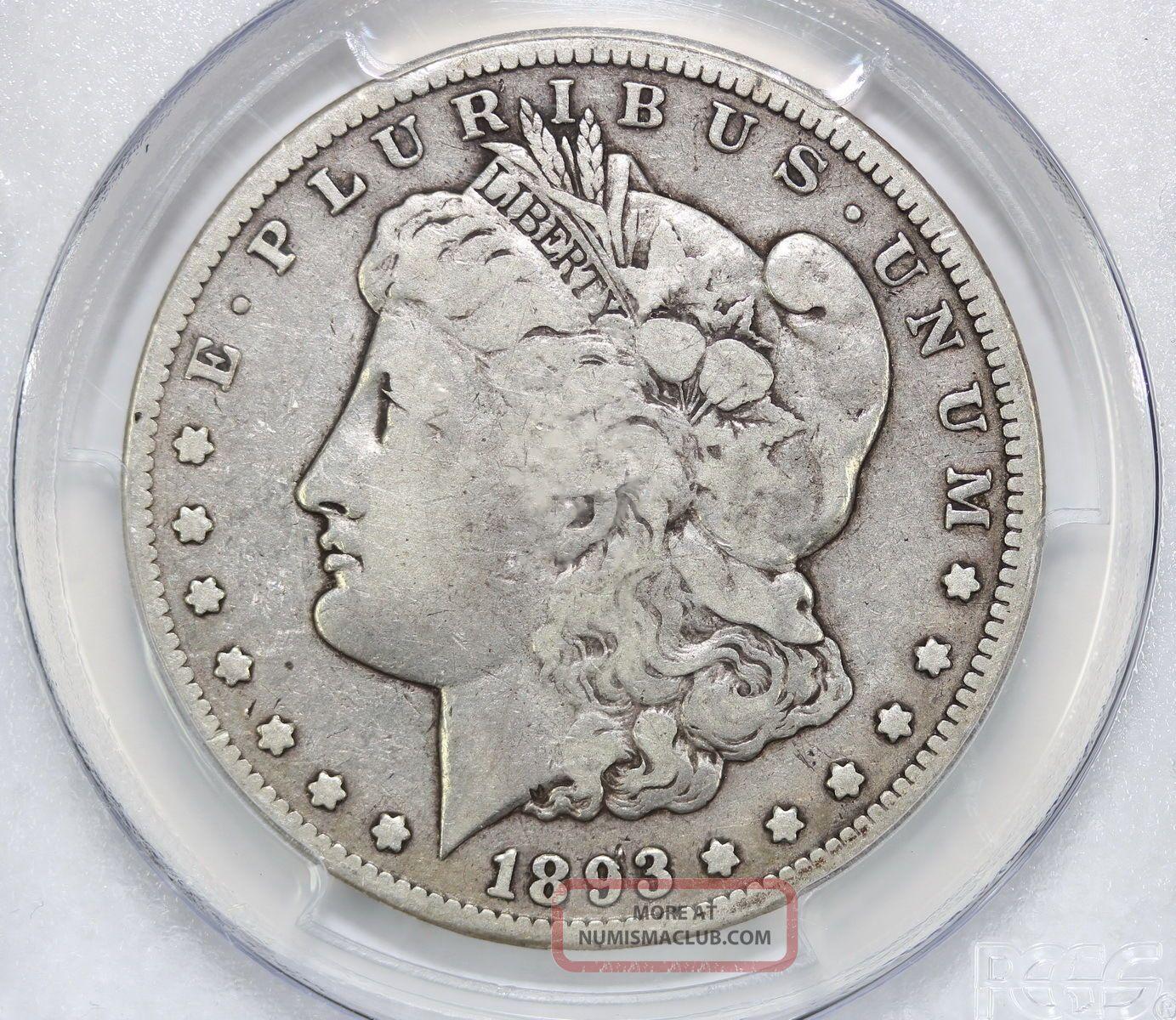 1893 Cc Morgan Silver Dollar F 12 Pcgs 0383