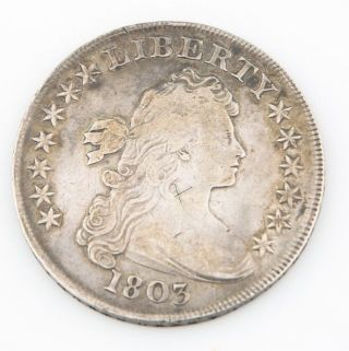1803 Draped Bust One Dollar (large 3) F - Vf $1 Silver Fine To Very Fine 6901 photo