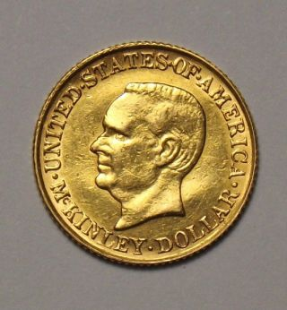 1916 1 Dollar Commemorative Gold Coin Xf+ photo