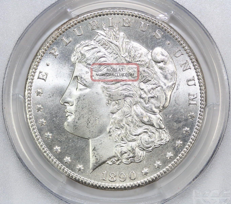 1890 Cc Morgan Silver Dollar Ms 64 Pcgs 2402