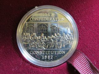 $1 One Dollar Coin Proof - Like Canada Confederation Constitution 1867 - 1982 Unc photo