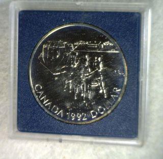 Canada Silver Dollar 1992 Bu Silver Coin (cyber 765) photo