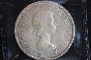 1963 Canada.  1$ Dollar.  Voyageur.  Iccs Graded Ms - 64.  (xba299) photo