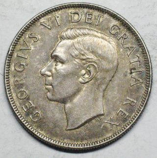 1952 Canadian Silver Dollar Grading Au Toned 600 Asw T339 photo