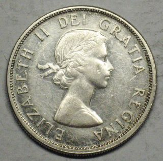 1963 Canadian Silver Dollar Grading Au 600 Asw T340 photo