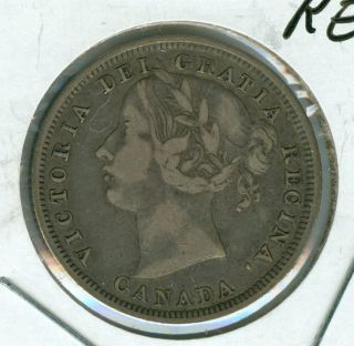 1858 Canada 20 Cents Re - 5 Very Fine +. photo