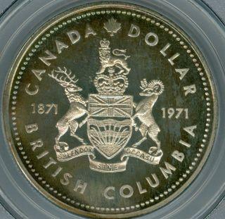 1971 Canada $1 Dollar Pcgs Sp67 Gorgeous Neon Rainbow Toned 12373256 photo