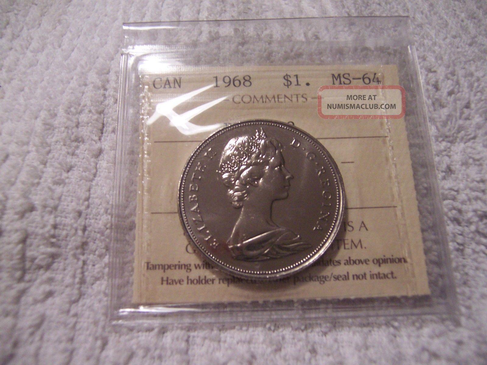 1968 Canada Dollar Dhl 2 Ms - 64 Coins: Canada photo