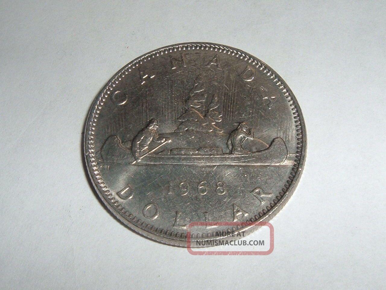Canadain One Dollar Coin Date 1968 Coin Coins: Canada photo