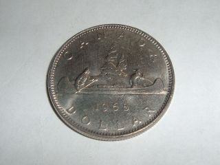Canadain One Dollar Coin Date 1968 Coin photo