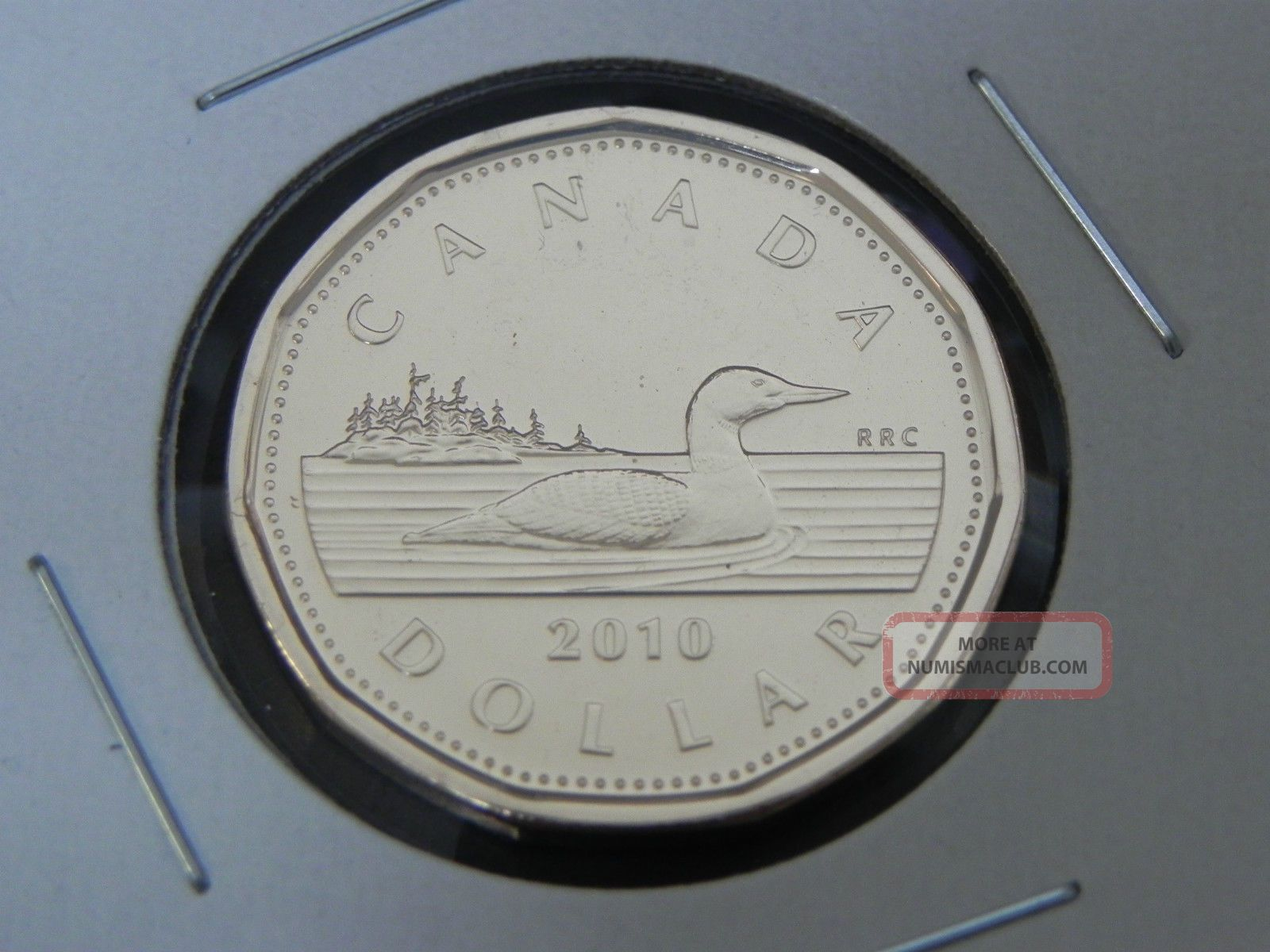 2010 Ms Unc Canadian Canada Loon Loonie One $1 Dollar Low Mintage Coins: Canada photo
