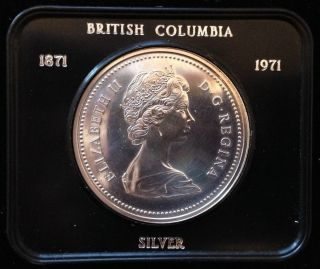 1971 Silver $1 One Dollar British Columbia (prooflike) photo