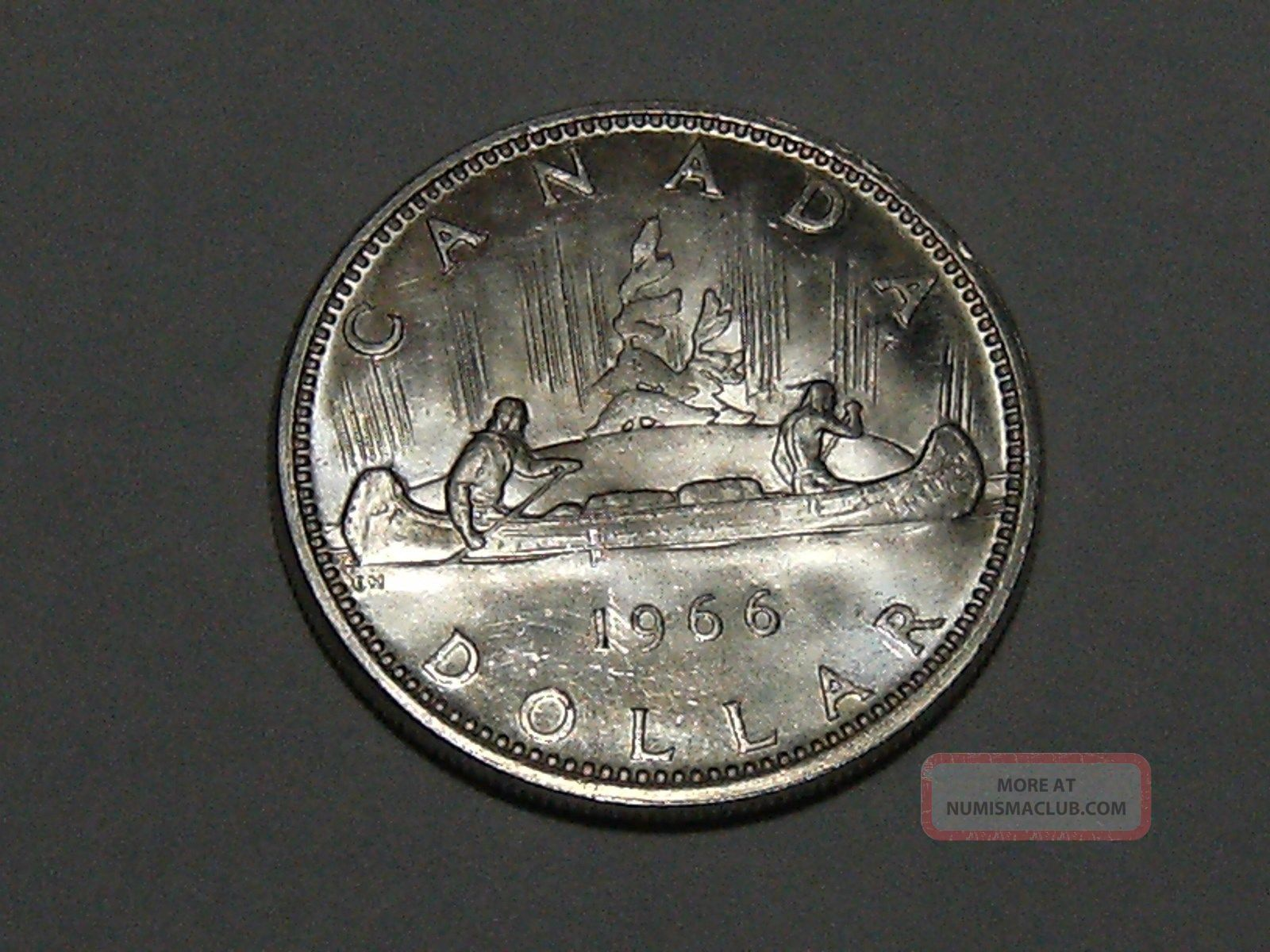1966 Canadian Silver Dollar (bu) 3362 Coins: Canada photo