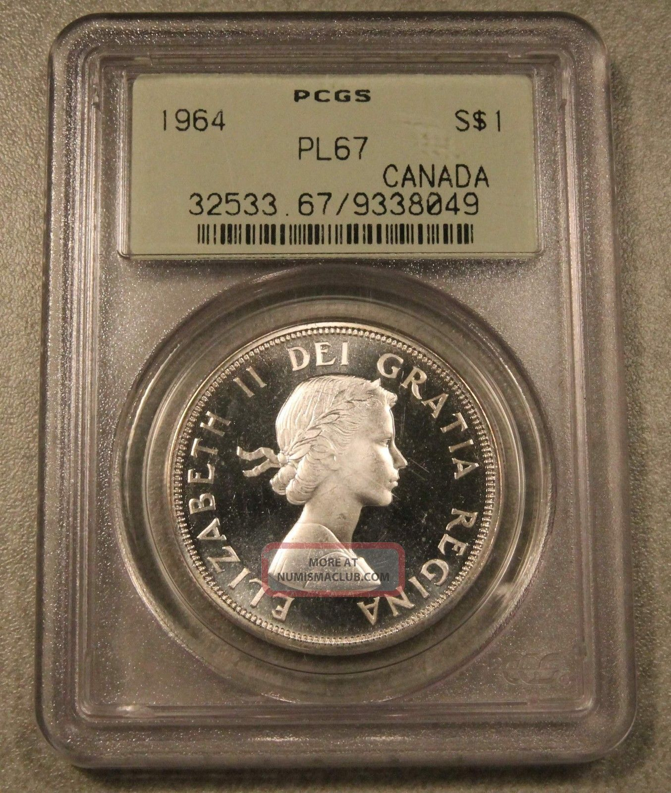 1964 Canada Silver Dollar Pl67 Pcgs Ogh Heavy Cameo - High - End Registry Coin Coins: Canada photo