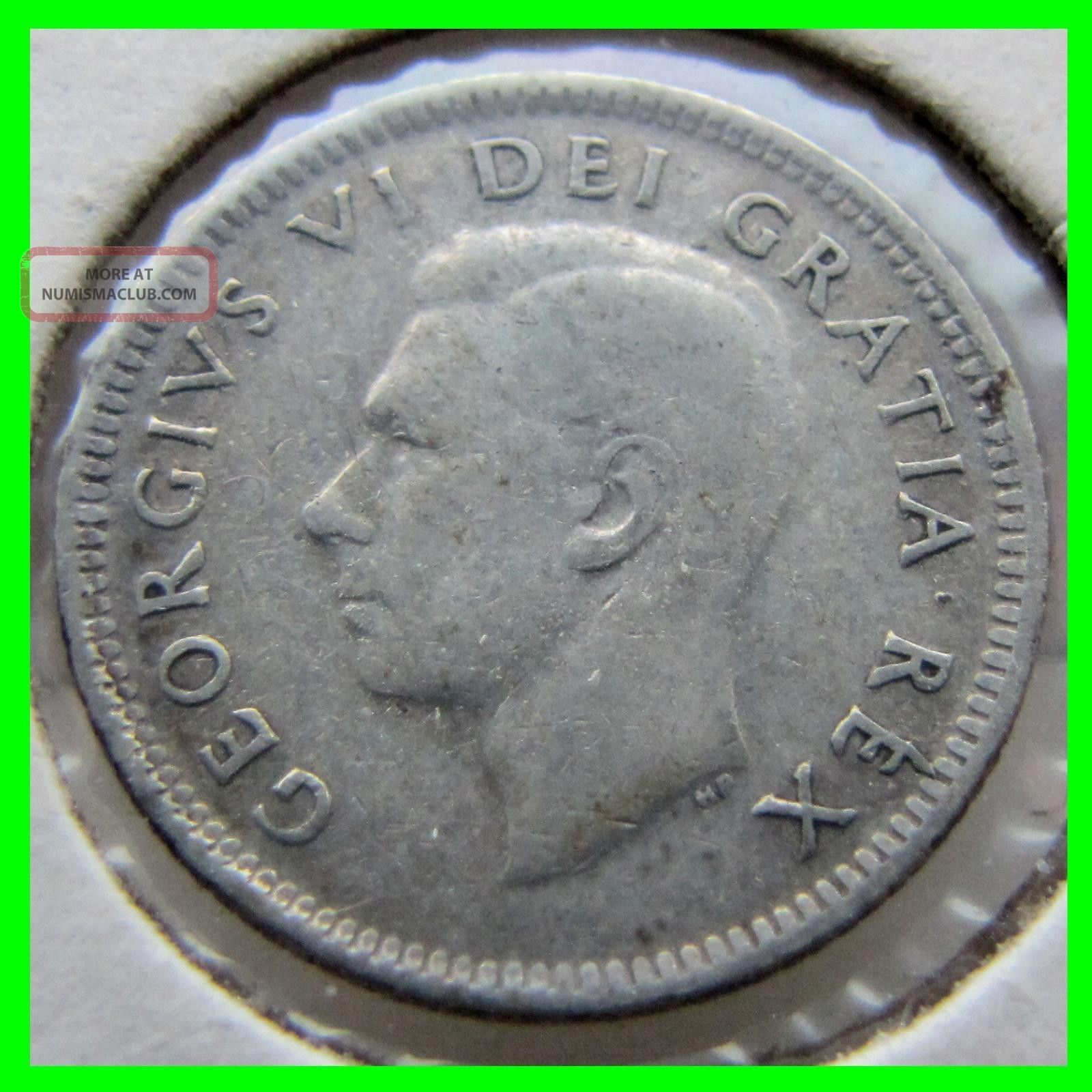 Rare One Of A Kind 1951 Canada Canadian Dime Double Die