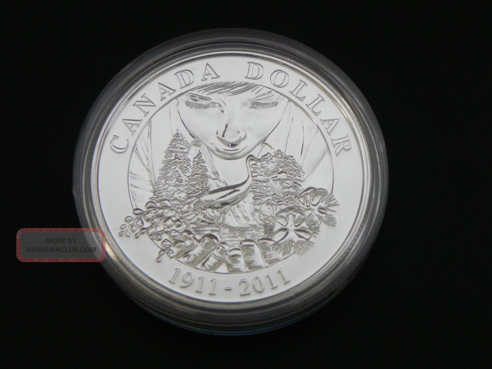 2011 Silver Bu Canadian 100th Anniversary Of Parks Canada $1 One Dollar Coins: Canada photo