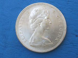Stunning 1867 - 1967 Canadian Siver Dollar Coin photo