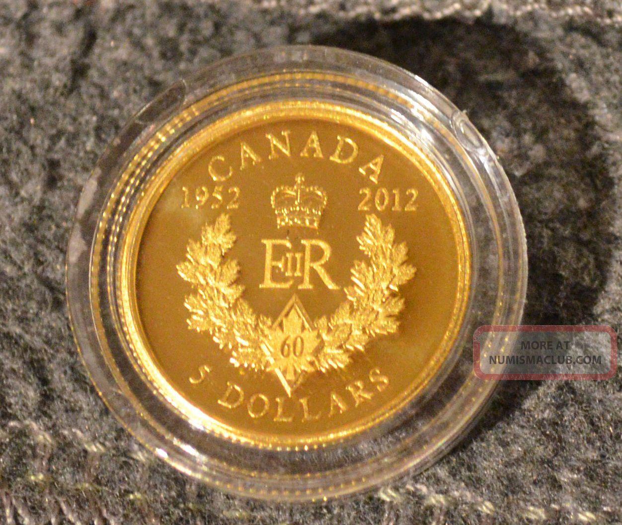 Canada 2012 1 10 Ounce Gold 5 Diamond Jubilee Royal