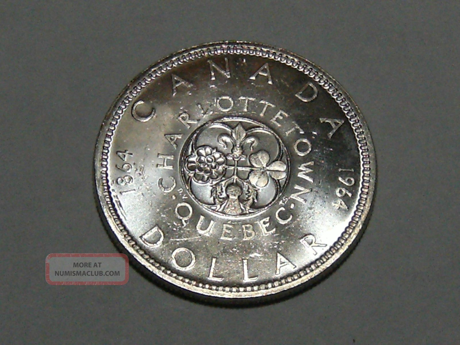 1964 Canadian Silver Dollar (bu) 3353 Coins: Canada photo