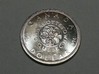 1964 Canadian Silver Dollar (bu) 3353 photo