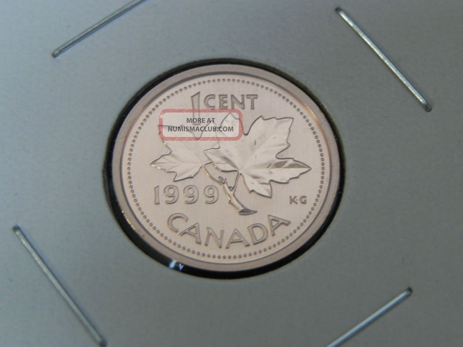 1999 Specimen Unc Canadian Canada Maple Leaf Penny One 1 Cent Coins: Canada photo