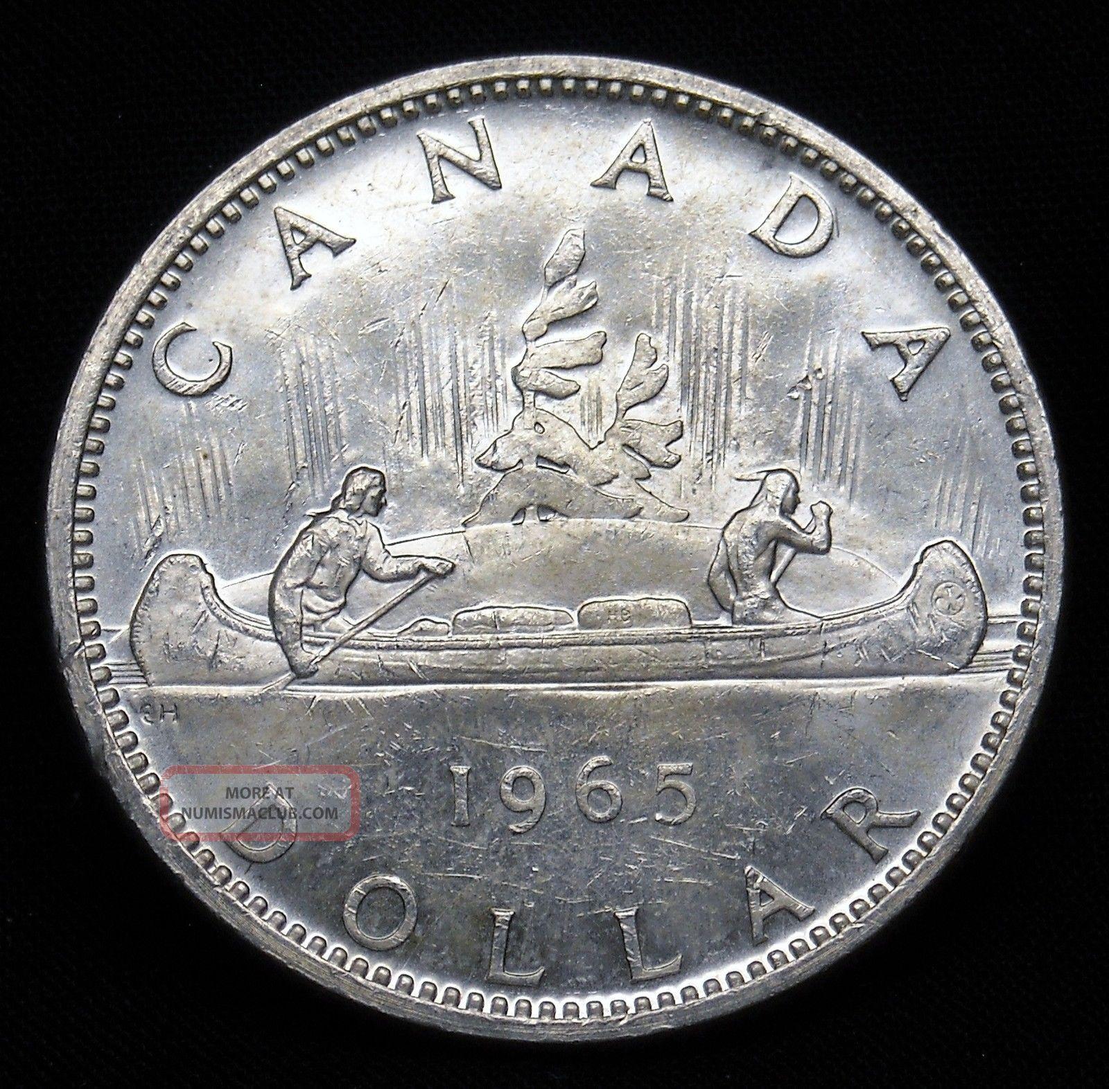 1965 Canada Silver Dollar Asw.  600 Oz Grade Ch Bu B497 Coins: Canada photo