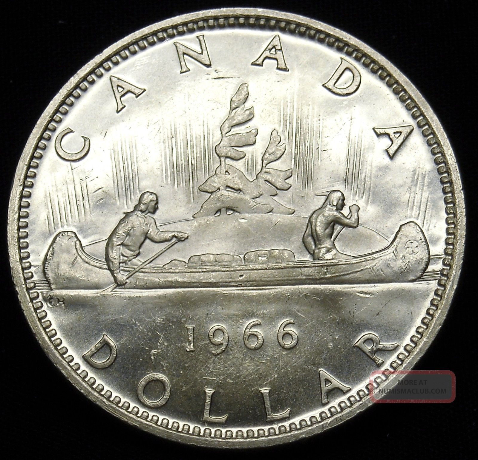 1966 Canadian Silver Dollar.  600 Actual Silver Weight As Pictured S&h H551 Coins: Canada photo