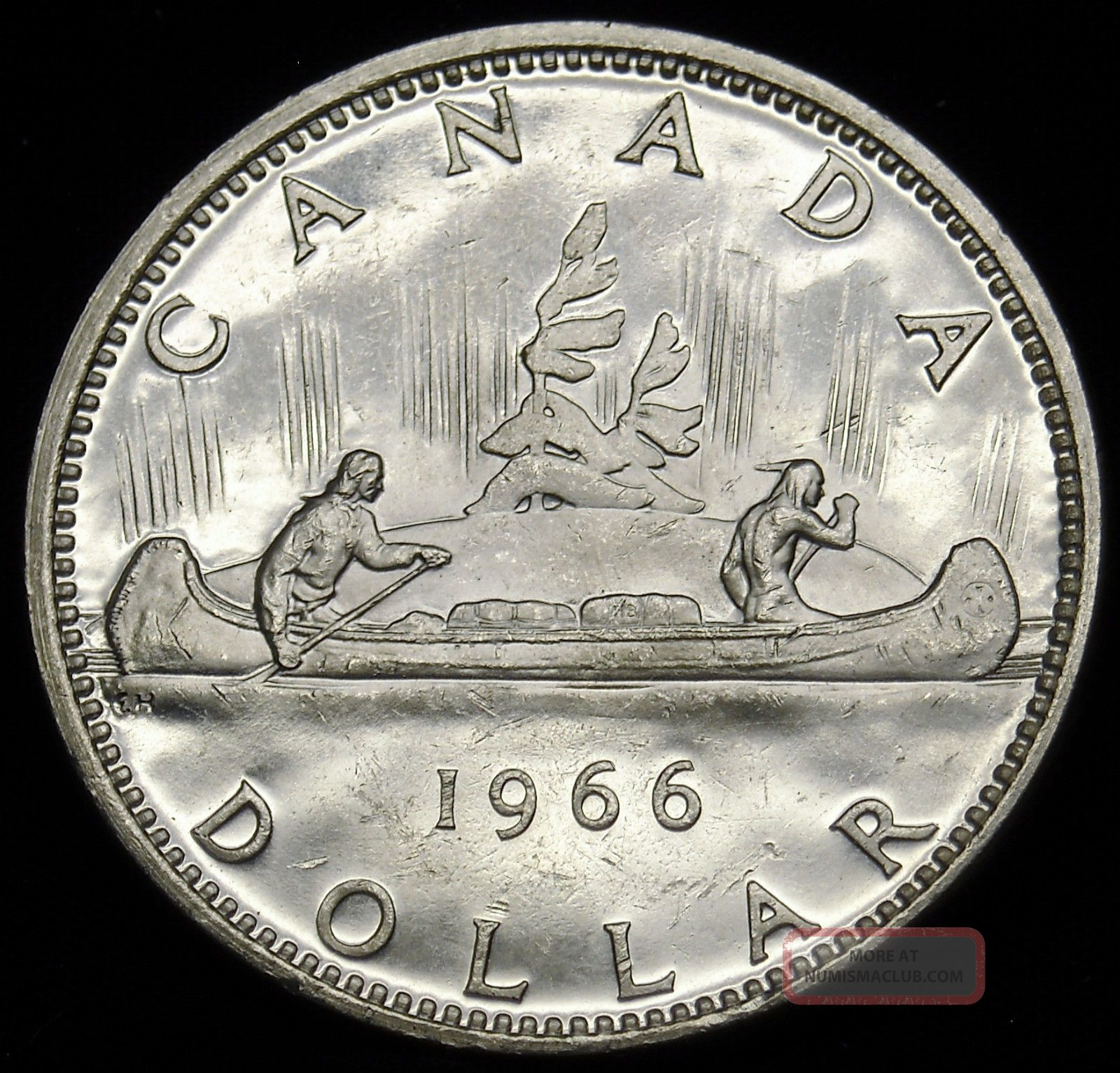 1966 Canadian Silver Dollar.  600 Actual Silver Weight As Pictured S&h H553 Coins: Canada photo