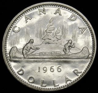 1966 Canadian Silver Dollar.  600 Actual Silver Weight As Pictured S&h H553 photo