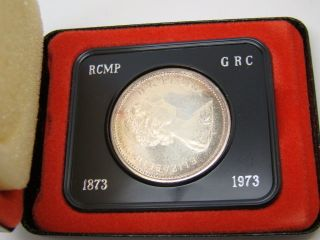 Rcm 1973 Canada Jubilee Silver $1 One Dollar Coin photo