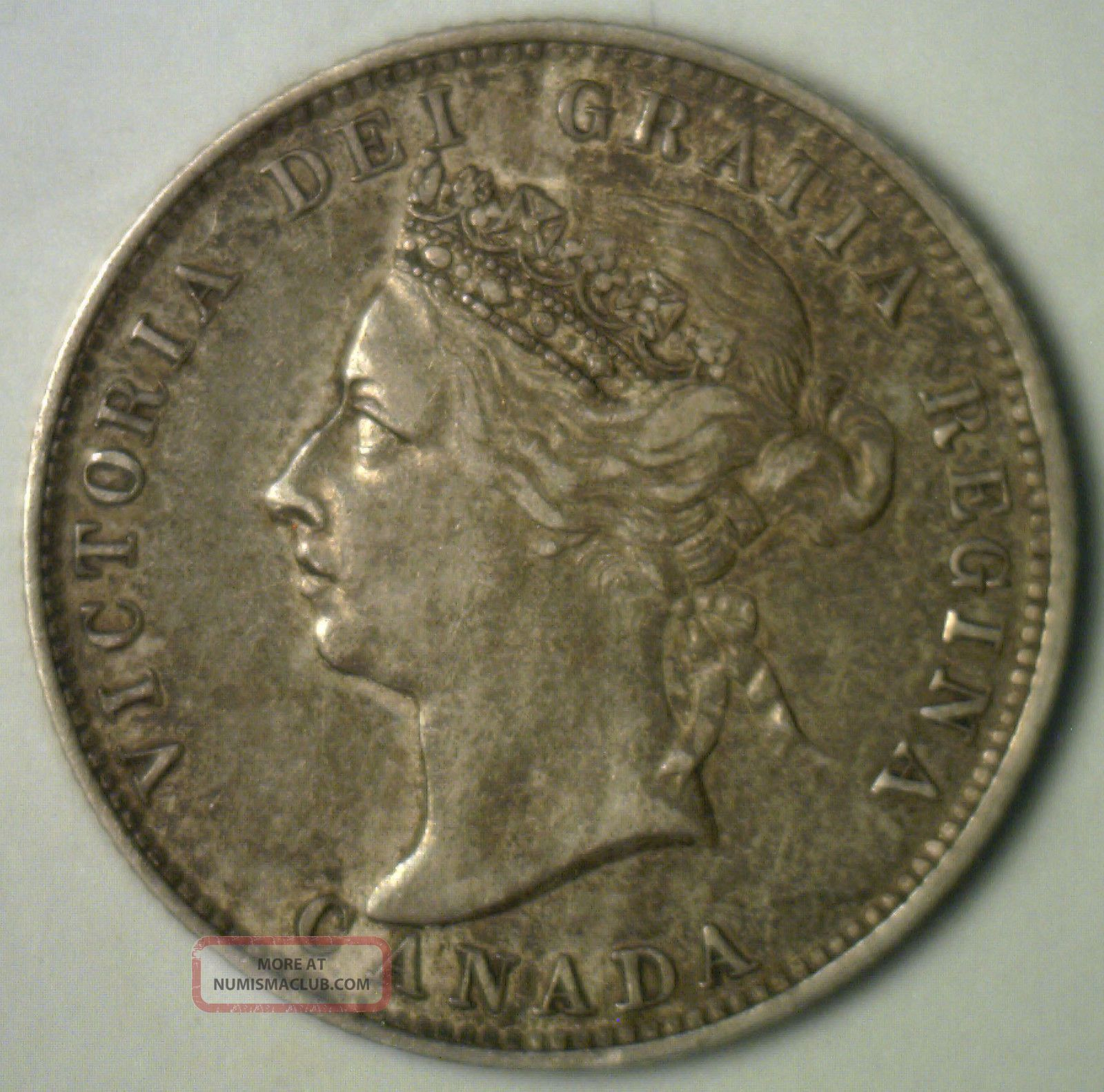 1892 Canadian Silver 25 Cent Quarter Coin Victoria Canada Extra Fine Xf