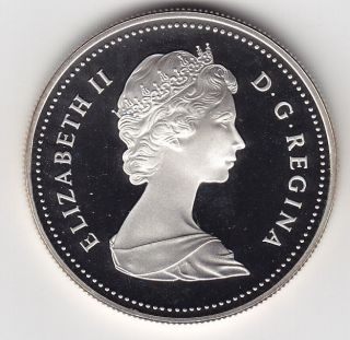 Canada 1984 Proof Uncirculated One Silver Dollar Coin photo