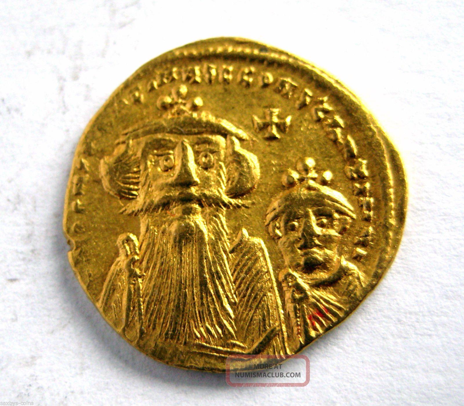 641 668 A D Byzantine Empire Constans Ii Gold Solidus