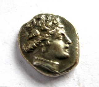 C.  250 B.  C Ancient Greece Macedonian Kings Series Silver Hemmi - Drachma Coin.  Vf photo