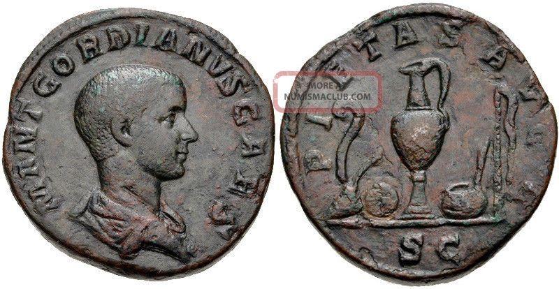 Gordian Iii As Caesar Sestertius Under Pupienus And Balbinus 237/238 Ad Ngc Rare Coins: Ancient photo