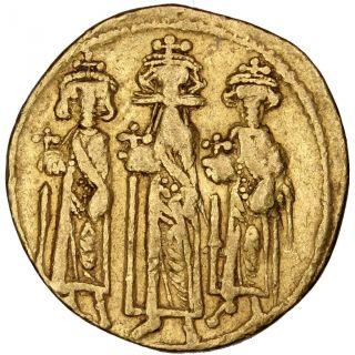 Bysantine Empire,  Héraclius Et Héraclius Constantin,  Solidus photo