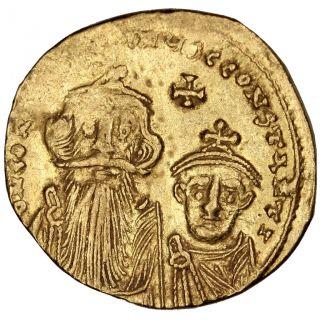 Bysantine Empire,  Constans Ii,  Solidus photo