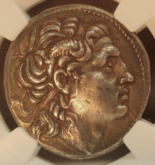 Greek Lysimachus 305 - 281bc Thrace Ar Silver Tetradrachm Xf Ngc 5x5 01162043d photo