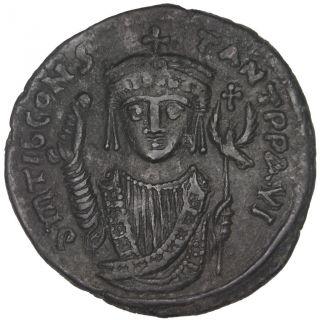 Bysantine Empire,  Tibère Ii Constantin,  Follis photo
